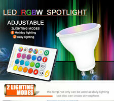 5W GU10 LED Bulbs Light RGB 16 Colour Changing Spotlight Lamp w/ Remote Control