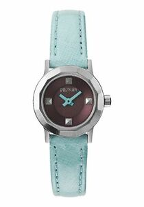 NIXON LIGHT BLUE MINI B STAINLESS STEEL LEATHER WATCH A338-302 NEW!!!
