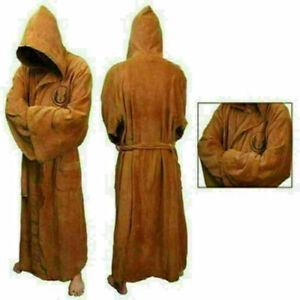 Mens Star Wars Bath Robe Jedi Sith Hooded Bathrobe Cloak Fleece Dressing Gown