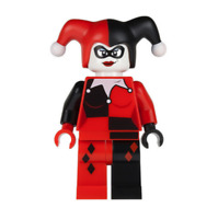 Lego Harley Quinn 71229 6857 Black and Red Hands Super Heroes Minifigure