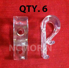 Qty (6) Looped Cord or Chain Hold Down - Tensioner - Window Blind Loop