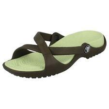 Sandali e scarpe Crocs verde sintetico per il mare da donna