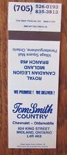 OLDSMOBILE CAR DEALER:TOM SMITH COUNTRY (MIDLAND & PENETANGUISHENE, ONTARIO) JN6