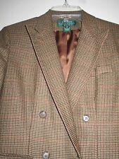 RALPH LAUREN 6P. womans brown tweed cashmere wool coat jacket blazer- $17.00