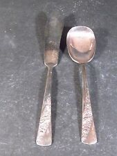Harmony House Silverplate Butter & Sugar  BRIDAL CORSAGE NM