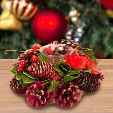 Red Christmas Centrepiece Single Tea Light Candle Holder