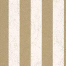 CARATI GLITTER Carta da parati a righe 13346-70 Panna/Oro Camera da letto di Wall Decor