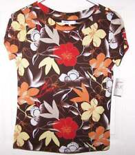 NWT Juniors Scoop Neck Top by Madison & Max Sz S Blouse Casual Floral S/S Multi