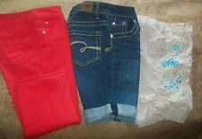 3pc Lot of Justice & Route clothes Girls size 10 Pants    Back To School