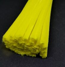50 x Jumbo Premium Craft Pipe Cleaners Chenille tiges 300 mm x 6 mm-jaune
