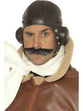 Mens Unisex Fancy Dress Flying Hat Aviator Pilot Chubby Biggles by Smiffys New