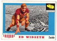 1955 Topps All-American Football Card #48 Ed Widseth Minnesota Gophers EX