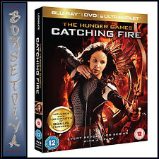 THE HUNGER GAMES - CATCHING FIRE TRIPLE PLAY  ***BRAND NEW  BLU-RAY & DVD ***