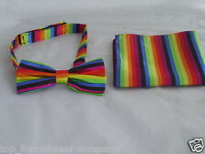 Any Polyester Pre-tied Mens Bow tie & Hanky Set >in 60 Colours>P&P 2UK>1st Class
