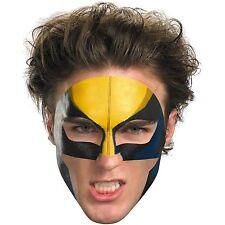 Adult Child Cartoon Marvel Comics X-Men Wolverine Super Hero Costume Face Tattoo