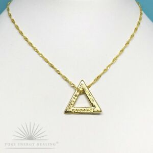 PETITE Gold Plated Triangle 2.5cm 1.0inch on Fine Chain Necklace Casa Brazil