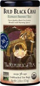 Bold Black Chai by The Republic of Tea, 36 tea bags
