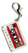 Audio Cassette MC Tape Charm Music Zipper Pull Pendant Mixtape Key Charm Keyring
