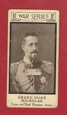 SOLITE  FLOUR -  VERY  RARE  MILITARY  CARD  -  WAR  PORTRAITS  NO. 7  - 1915