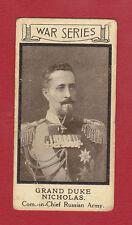 SOLITE  FLOUR -  VERY  RARE  MILITARY  CARD  -  WAR  PORTRAITS  NO. 7  - 1915