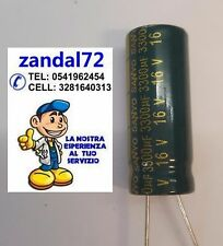 CONDENSATORE  ELETTROLITICO VERTICALE 3300uF 16V 16VOLT 105° 10x25 PASSO 5mm