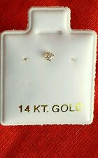 14k Yellow Gold Little Nose Ring Stud
