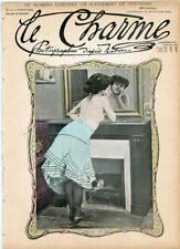 Two 2 Le Charme Vintage French Risque Magazines from 1904  115 Years Old !