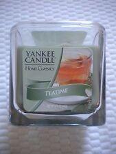 Yankee Candle Square 8.75 oz Jar Candle TEATIME TEA TIME 2 wick