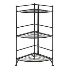 Convenience Concepts Xtra Storage 3 Tier Folding Corner Shelf, Black - 8022B