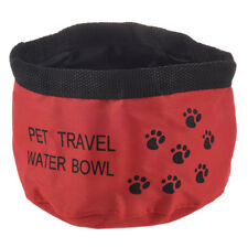 "8"" Fold Up Travel Dog Water Drinking Bowl X1W6"