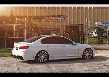 BMW 550I VOSSEN WHEELS NEW A2 CANVAS GICLEE ART PRINT POSTER FRAMED
