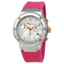 Ferragamo F-80 Chronograph Mother of Pearl Dial Ladies Watch FIH020015