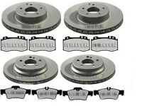 MERCEDES E-CLASS E350 E320 FRONT & REAR BRAKE DISCS AND PADS