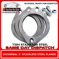 "3"" inch / 76mm Bore T304 Stainless 2 x Exhaust Flange Repair Kit Includes Gasket"