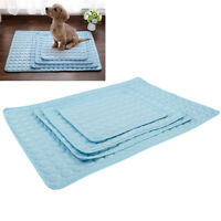 Indoor Summer Chilly Mats Cooling Pet Dog Cat Bed  Pad Viscose Fiber ILJ