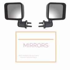 Black Door Side Mirror Kit Both Sides fits Jeep Wrangler JK 2007-2012