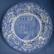 "Wedgwood Blue Transferware 10"" Collector'S Plate Mit 1930 Runkle Hall Dormitory"