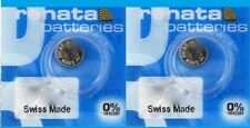 Renata Watch Battery #319 - 1.55V Silver Oxide SR527SW Swiss Made - 2pc Pack -