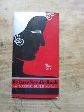 Vintage De Luxe Paper Sewing Needle Book Case Art Deco Germany