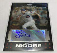 Scott Moore Chicago Cubs 2007 Topps Chrome rookie card #342 autographed AU RC