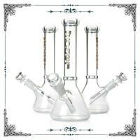 """Bong 10/"""" 5mm Thick Design USA Tobacco Water Pipe Hookah Bee"""