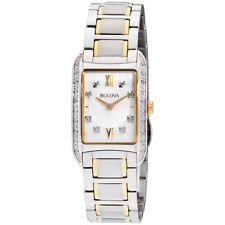Bulova Silver Dial Stainless Steel Ladies Watch 98R227