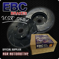 EBC USR SLOTTED REAR DISCS USR1511 FOR SUBARU WRX STI 2.5 TURBO 300 BHP 2012-