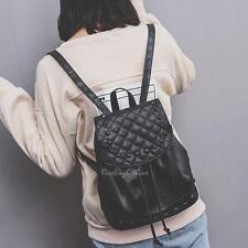 Fashion Women PU Leather Shoulder Backpack Girl Rivet School Bag Travel Satchel