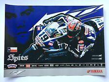 Ben Spies Unsigned Yamaha R1 Poster Rare WSBK MOTOGP.