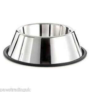 Stainless Steel Spaniel Non Slip Water Food Bowl Springer Dog Long Ears Less Mes