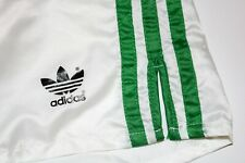 adidas vintage Nylon 80s Shorts shiny Sporthose weiß grün Sprinter Gr. ca. M PS1