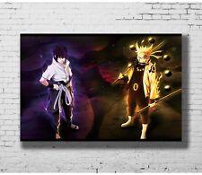 Naruto Sasuke Full Power Hot Blood Fight Art Silk Canvas Poster 13x20 24x36 inch