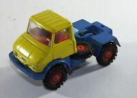 Corgi Toys -  Yellow & Blue UNIMOG 406  Diecast Cab Truck Model
