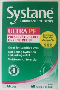 Systane Ultra PF Lubricant Eye Drops// 60 Vials of 0.7mL each Lot of 2